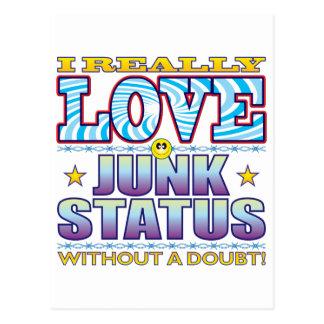 Junk Status Love Face Postcard