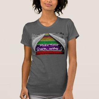 Junk Style Fashion Art Solid Shiny Royal Rich Art T Shirts