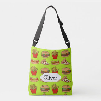 Junkfood pizza cheeseburger fries hotdogs design tote bag