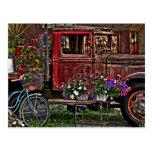 Junkyard Garden Post Card