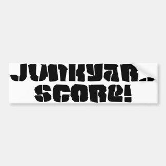 Junkyard Score Bumper Sticker