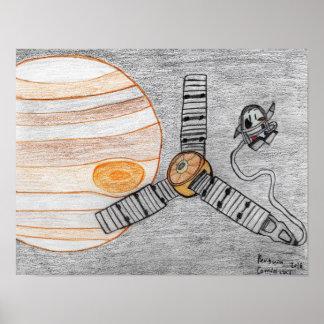 """Juno reaches Jupiter"" 16.00"" x 12.40"" Poster"