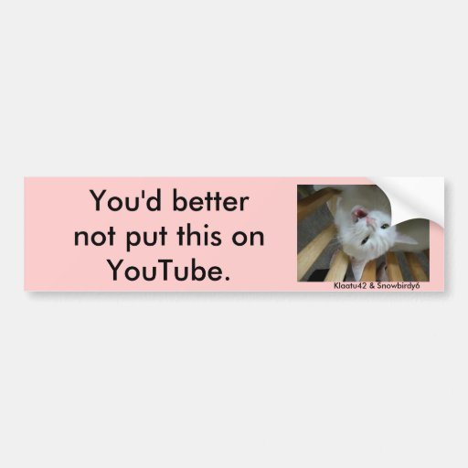 jupey1, You'd better not put this on YouTube., ... Bumper Sticker