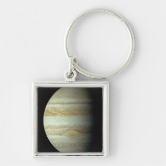 Jupiter 2 Silver-Colored square key ring