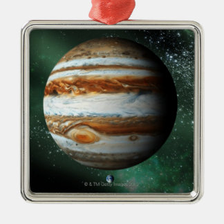 Jupiter and Earth Comparison Christmas Ornament