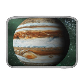 Jupiter and Earth Comparison MacBook Sleeve