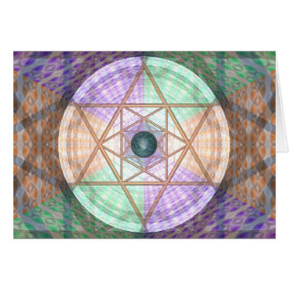 Jupiter And Earth Per Martineau (cards) Greeting Card