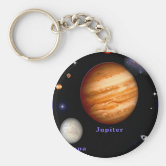 Jupiter and Europa Basic Round Button Key Ring