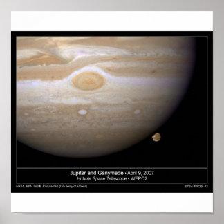 Jupiter and Ganymede Poster