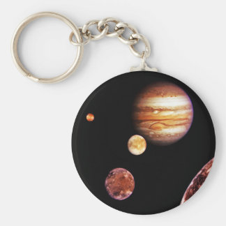Jupiter and Her Moons Key Ring