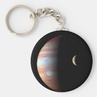 Jupiter and Io Basic Round Button Key Ring