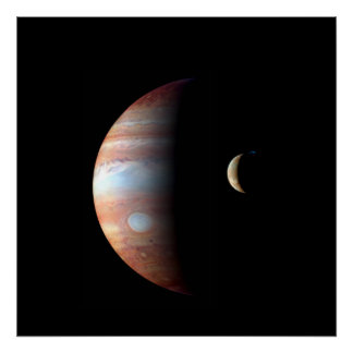 Jupiter and Io Poster