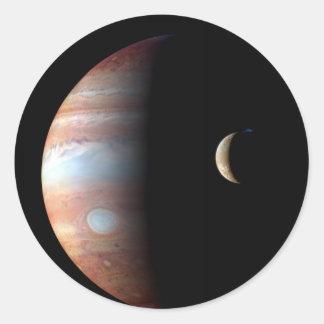Jupiter and Io Sticker
