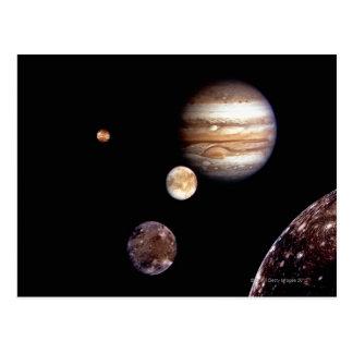 Jupiter and its Moons Postcard