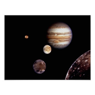 Jupiter and its Moons Poster
