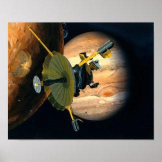 Jupiter and Lo Galileo probe Poster