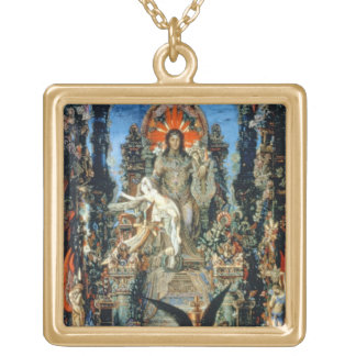 Jupiter and Semele, 1894-95 (oil on canvas) Gold Plated Necklace