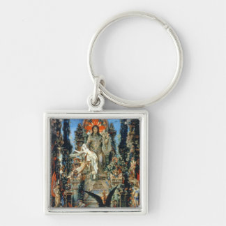 Jupiter and Semele, 1894-95 (oil on canvas) Silver-Colored Square Key Ring
