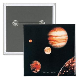 Jupiter and The Galilean Satellites 15 Cm Square Badge
