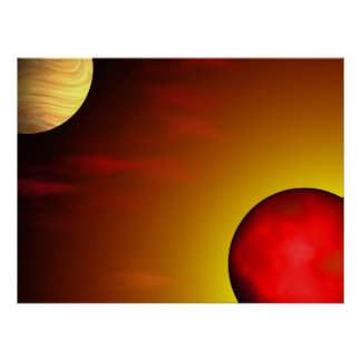 Jupiter and the Rising Sun Poster