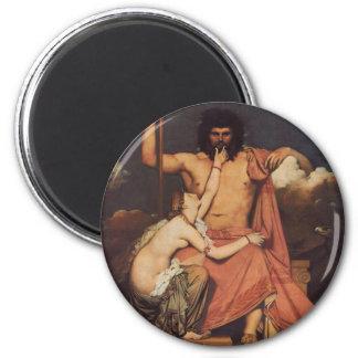 Jupiter and Thetis 6 Cm Round Magnet