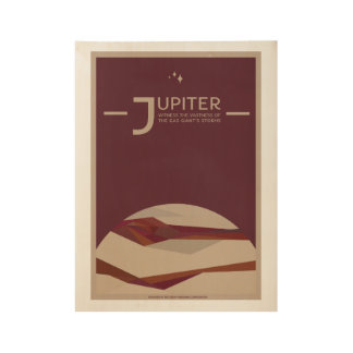 Jupiter Art Deco Space Travel Poster