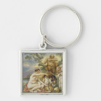 Jupiter as a Child Silver-Colored Square Key Ring