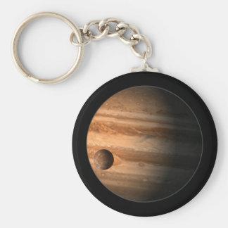 Jupiter Basic Round Button Key Ring