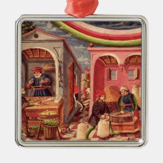 Jupiter, detail of fruit and grain merchants christmas ornament