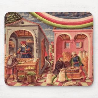 Jupiter, detail of fruit and grain merchants mouse mat