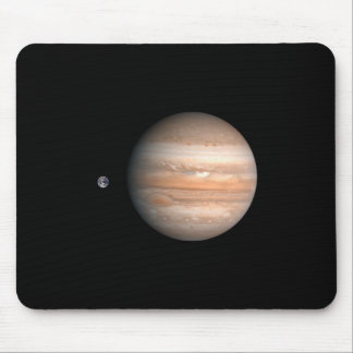 Jupiter Earth Comparison Mouse Mat