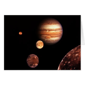 Jupiter Galilean Moons Astronomy & Science Gifts Greeting Card