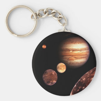 Jupiter Galilean Moons Space & Astronomy Gifts Basic Round Button Key Ring