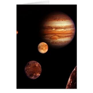 Jupiter Galilean Satellites NASA Card
