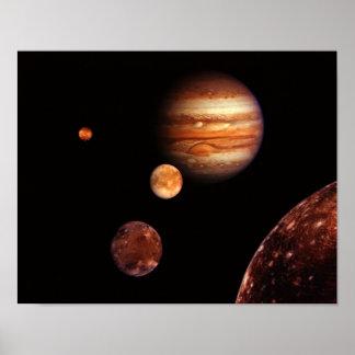 Jupiter Galilean Satellites NASA Posters
