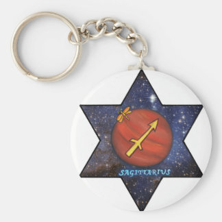 Jupiter in Sagittarius,star sign Basic Round Button Key Ring