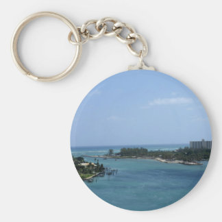 Jupiter Inlet Basic Round Button Key Ring