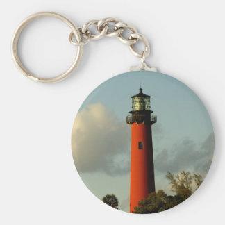 Jupiter Inlet Lighthouse Basic Round Button Key Ring
