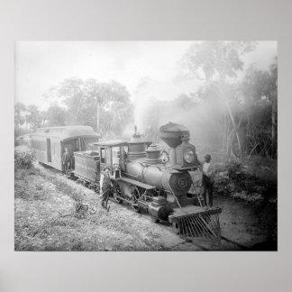Jupiter & Lake Worth Railroad, 1897. Vintage Photo Poster