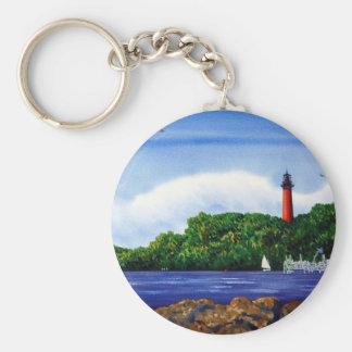 Jupiter Lighthouse III Basic Round Button Key Ring