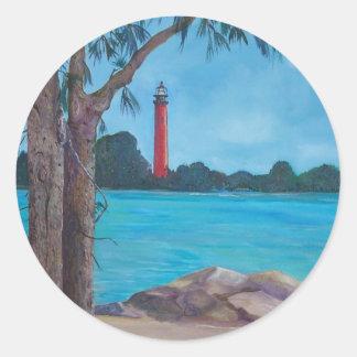 Jupiter Lighthouse Round Sticker