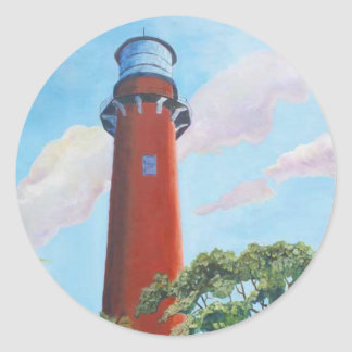 Jupiter Lighthouse Round Stickers