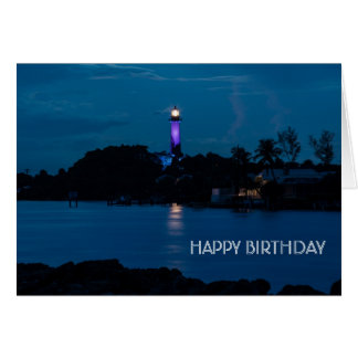 JUPITER LIGHTHOUSE SHINES BLUE CARD