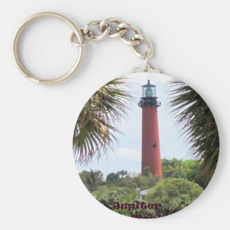 Jupiter Lighthouse through the Palms Key Ring