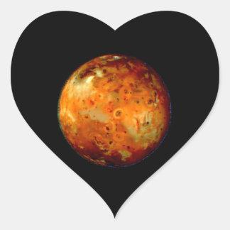Jupiter Moon Io Space NASA Heart Stickers