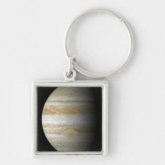 Jupiter mosiac Silver-Colored square key ring