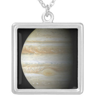 Jupiter mosiac silver plated necklace