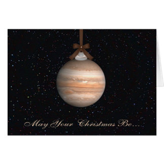 Jupiter Planet Christmas Greeting Card
