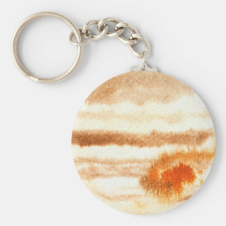 Jupiter Planet Watercolor Keychain