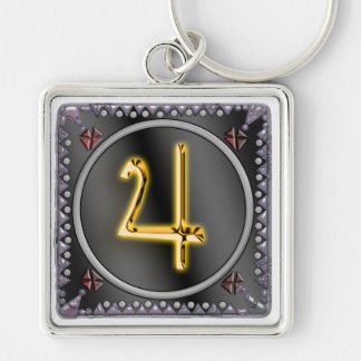 jupiter sigil Silver-Colored square key ring